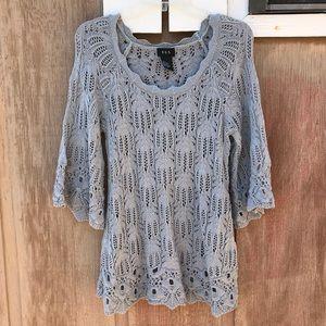 R-Q-T crochet sweater